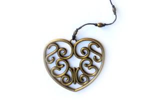 Náhrdelník měděné srdce