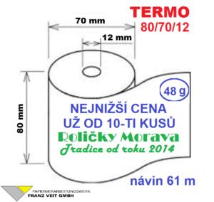Termo 80/70/12 61 m
