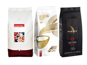 Prémiový výběr kávy 3 x 1 Kg zrnková káva