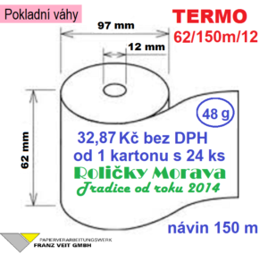 Termo 62/150m/12 150 m