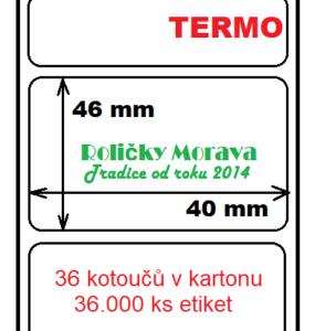 Termo etiketa 40/46/40