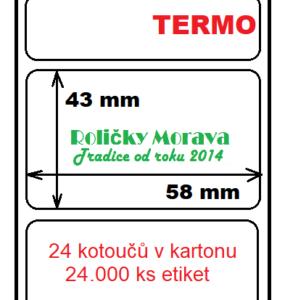 Termo etiketa 58/43/40