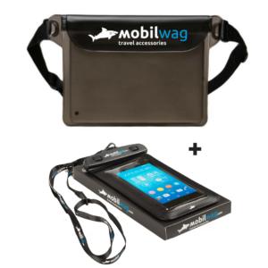Výhodný balíček vodotěsná ledvinka + pouzdro na telefon černé