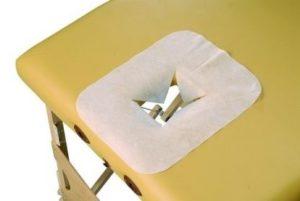 Jednorázová pokrývka otvoru lehátka – 100 ks