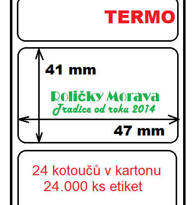 Termo etiketa 47/41/40