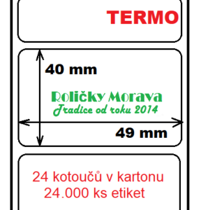 Termo etiketa 49/40/40