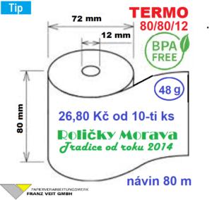 Termo 80/80/12 BPA 80 m