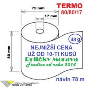 Termo 80/80/17 78 m