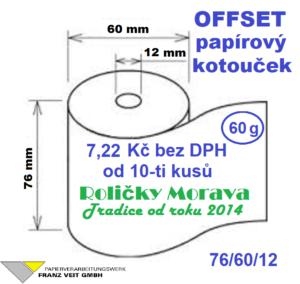 Offset 76/60/12 27 m