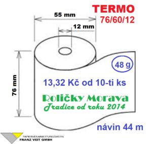 Termo 76/60/12 44 m