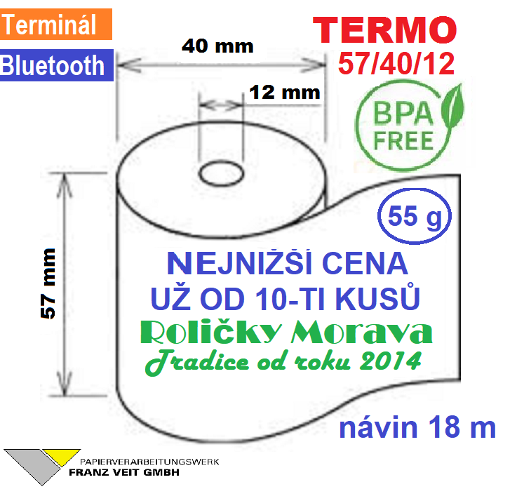 Termo 57/40/12 BPA 18 m