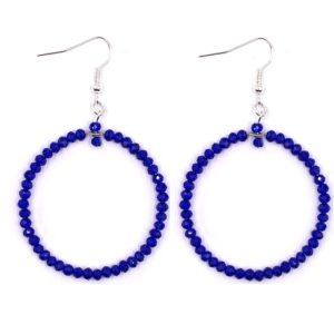 Náušnice kruhy modré