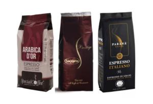 Výběr kávy Arabika 3 x 1 Kg zrnková káva