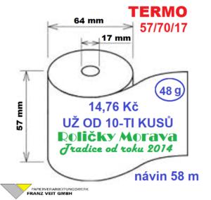 Termo 57/70/17 58 m