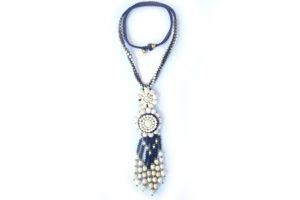 Masivní náhrdelník bíločerný