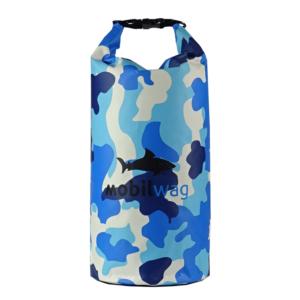 Vodotěsný mobilwag s popruhy barva modrý militar