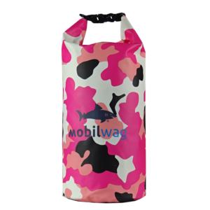 Vodotěsný mobilwag s popruhy barva růžový militar
