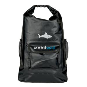 Vodotěsný mobilwag batoh s popruhy barva černá