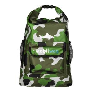 Vodotěsný mobilwag batoh s popruhy barva zelená militar
