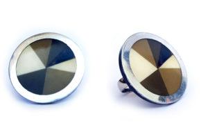 Prsten trojúhelníčky hnědý