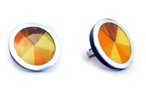 Prsten trojúhelníčky oranžový