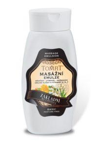 Masážní emulze TOMFIT – základní bez parfému 250 ml