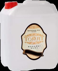 Masážní olej TOMFIT – růže 5 l