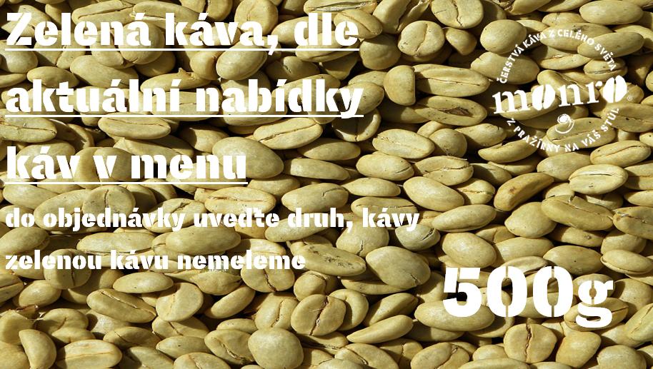Káva zelená nepražená 500g
