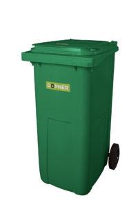 Plastová popelnice DOPNER 240 l – zelená