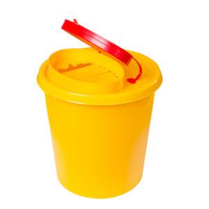 Nádoba na zdravotnický odpad (použité jehly) 1,5l – žlutá