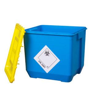 Klinik box (nádoba na nebezpečný odpad) 30 l modrá – UN kónická + víko