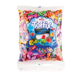 TOFFIX SMĚS – plněné karamelky s ovocnou příchutí 1KG