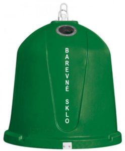 Zvonový kontejner – ZVON 1,5 m3 ZELENÝ – BAREVNÉ SKLO