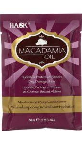 HASK hydratační maska na vlasy – makadamový olej 50ml