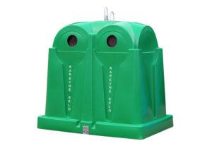 Zvonový kontejner – ZVON 2,5 m3 ZELENÝ – BAREVNÉ SKLO