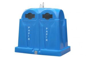 Zvonový kontejner – ZVON 3,5 m3 MODRÝ – PAPÍR