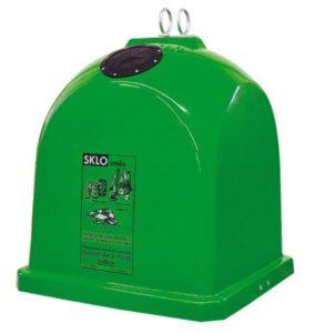 Zvonový kontejner (sklolaminát) – ZVON 1,1 m3 ZELENÝ – BAREVNÉ SKLO