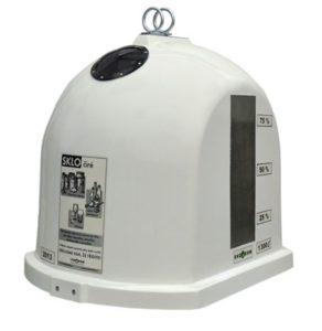 Zvonový kontejner (sklolaminát) – ZVON 1,1 m3 BÍLÝ – ČIRÉ SKLO