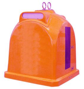 Zvonový kontejner (sklolaminát) – ZVON 1,1 m3 ORANŽOVÁ – NÁPOJOVÉ KARTONY