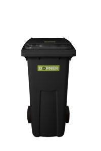 Plastová popelnice DOPNER 120 l – černá