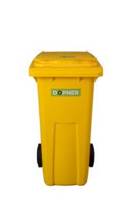 Plastová popelnice DOPNER 120 l – žlutá