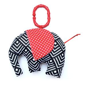 Gadeo závěsná dekorace/hračka Slon černý