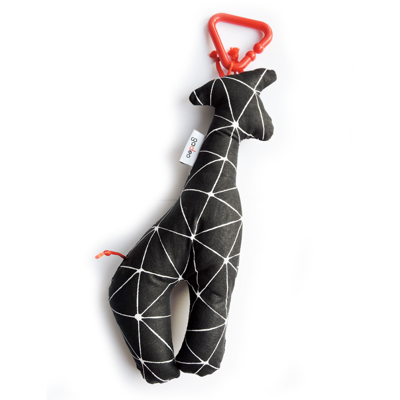 Gadeo závěsná dekorace/hračka Žirafa černá