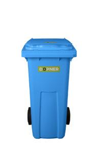 Plastová popelnice DOPNER 120 l – modrá