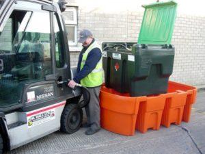 Záchytná vana pod IBC kontejner (objem 1050 l)