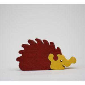 Dřevěné puzzle – ježek