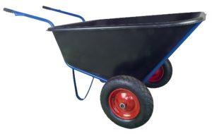 Kolečko stavební (vozík) – 210 l plastová korba, nafukovací kola
