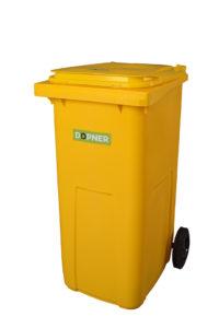 Plastová popelnice DOPNER 240 l – žlutá