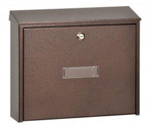 Pozinkovaná poštovní schránka s horním vhozem – hnědá