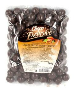 Choco exclusive lísková jádra v hořké čokoládě 700g
